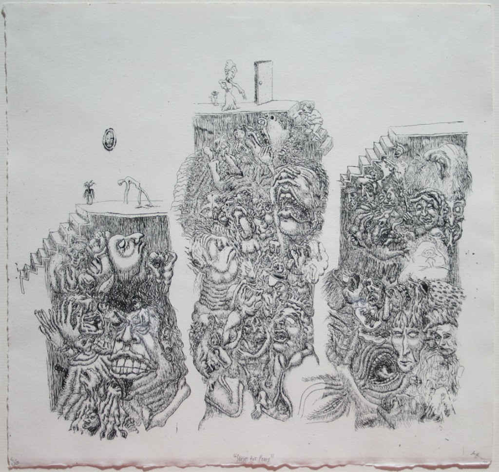 """Stairs for Fears"" 2010 - Etching, 29 x 30 cm"