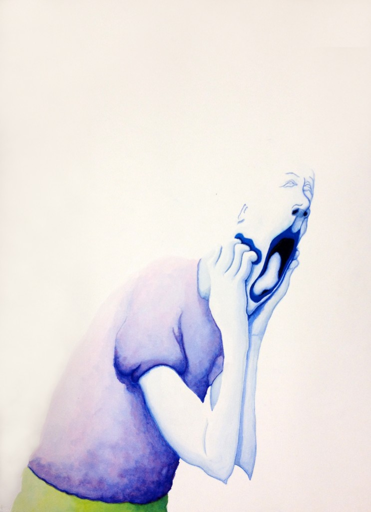 """Dip In"" 2012 - Watercolour on Paper, 72 x 53cm"