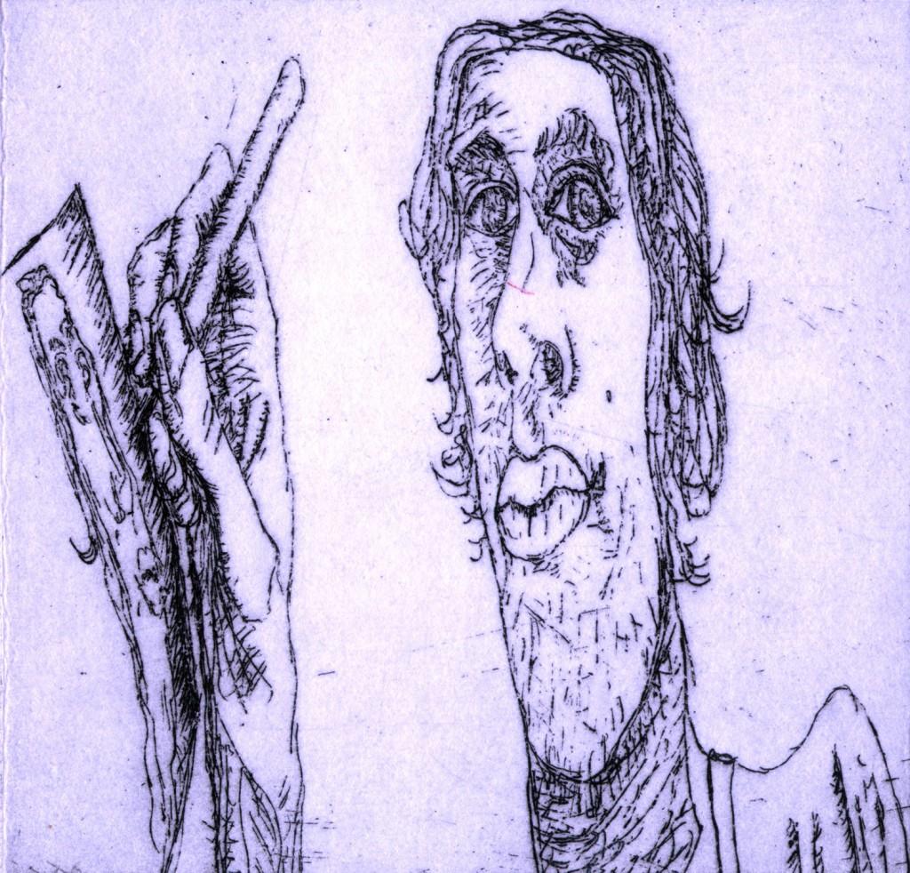 pF[Self-Portrait:2010:Etching:9 x 9.5 cm